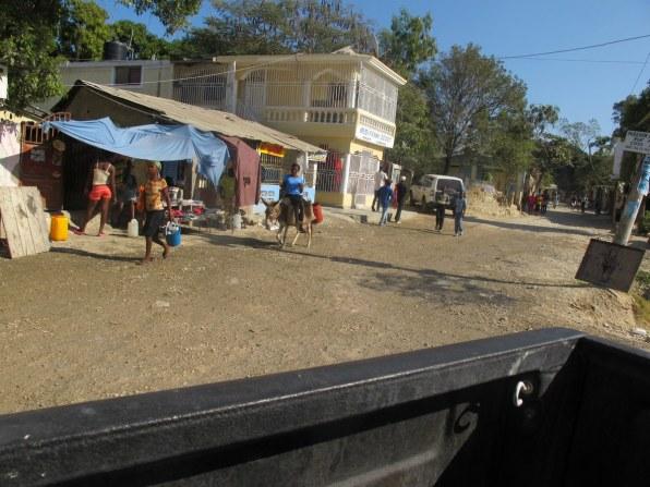 So sahen die ersten Kilometer in Haiti aus.
