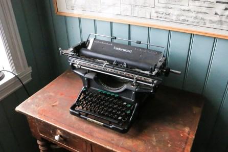 Die Schreibmaschine im Hering-Museum hat den Namen Underwood.