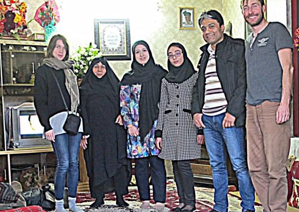 Von dieser Familie wurde ich in Yazd eingeladen.