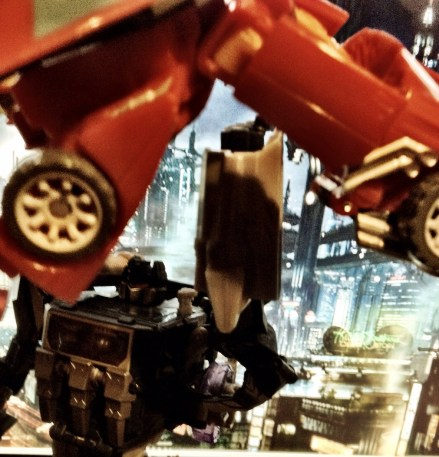 Soundwave with an uppercut on Hot Rod