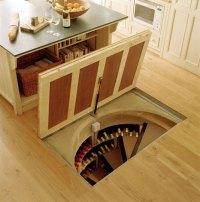 Trapdoor in the Kitchen Floor: Spiral Wine Cellars - Rool ...