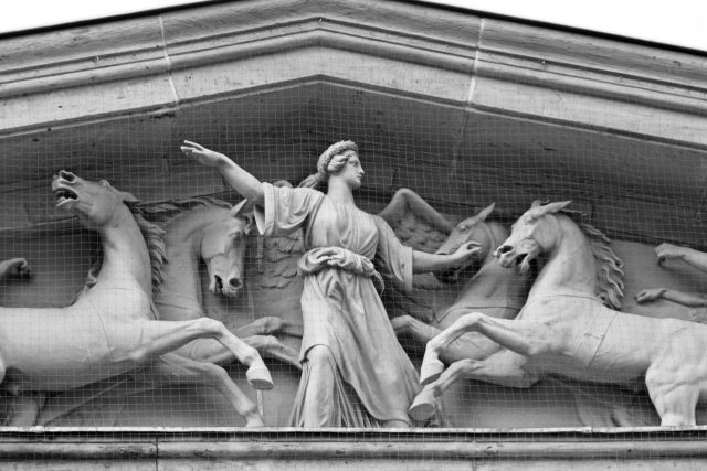 Decorative frieze with relief carving