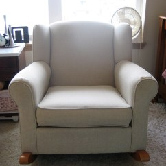 Wingback Chair Upholstery Ideas Cheap Card Table And Chairs How To Reupholster A Rocker Part I  Room Think