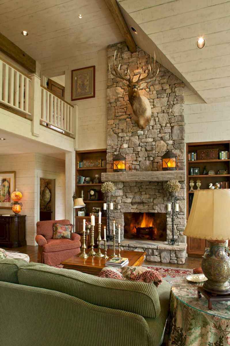 50+ most amazing rustic fireplace designs ever (1)
