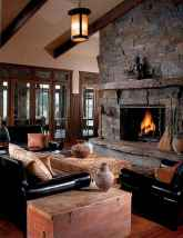 50+ most amazing rustic fireplace designs ever (46)