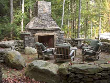 50+ most amazing rustic fireplace designs ever (5)