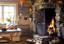 50+ most amazing rustic fireplace designs ever (51)