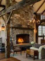 50+ most amazing rustic fireplace designs ever (58)