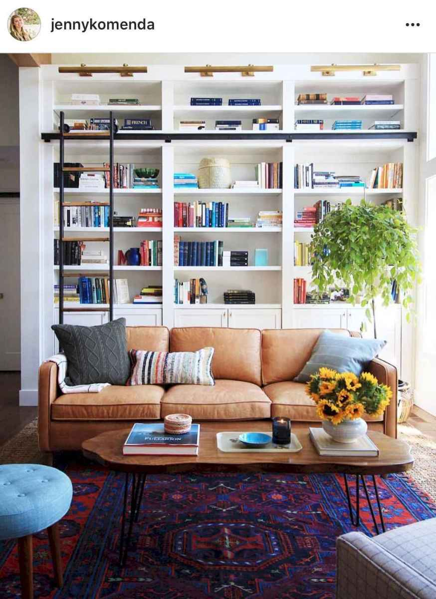 60 amazing eclectic design ideas for your library room (22)