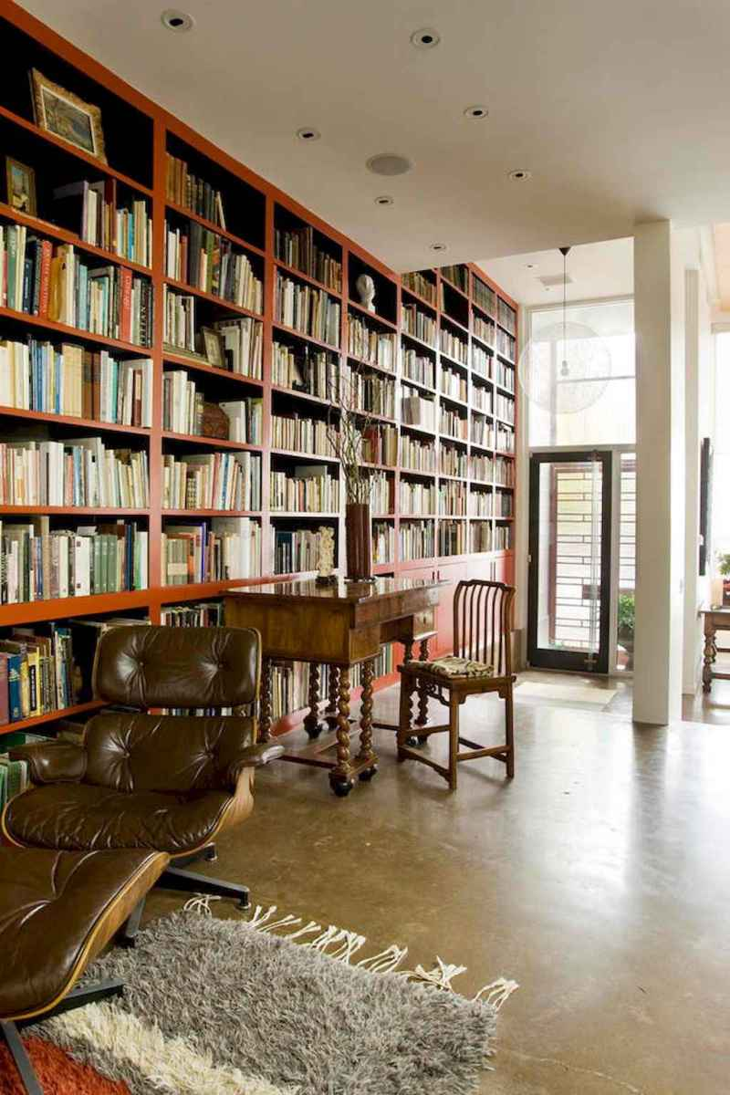 60 amazing eclectic design ideas for your library room (41)