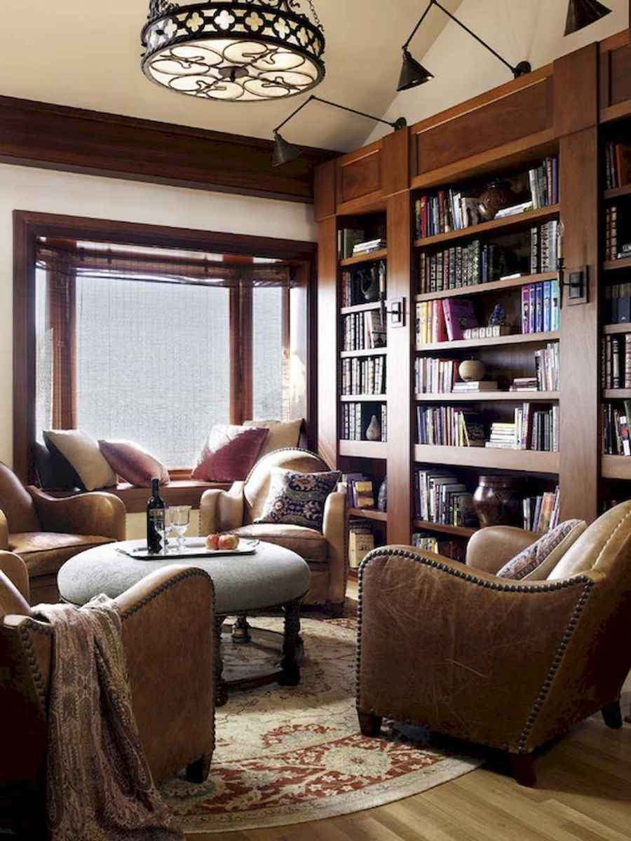 60 amazing eclectic design ideas for your library room (50)