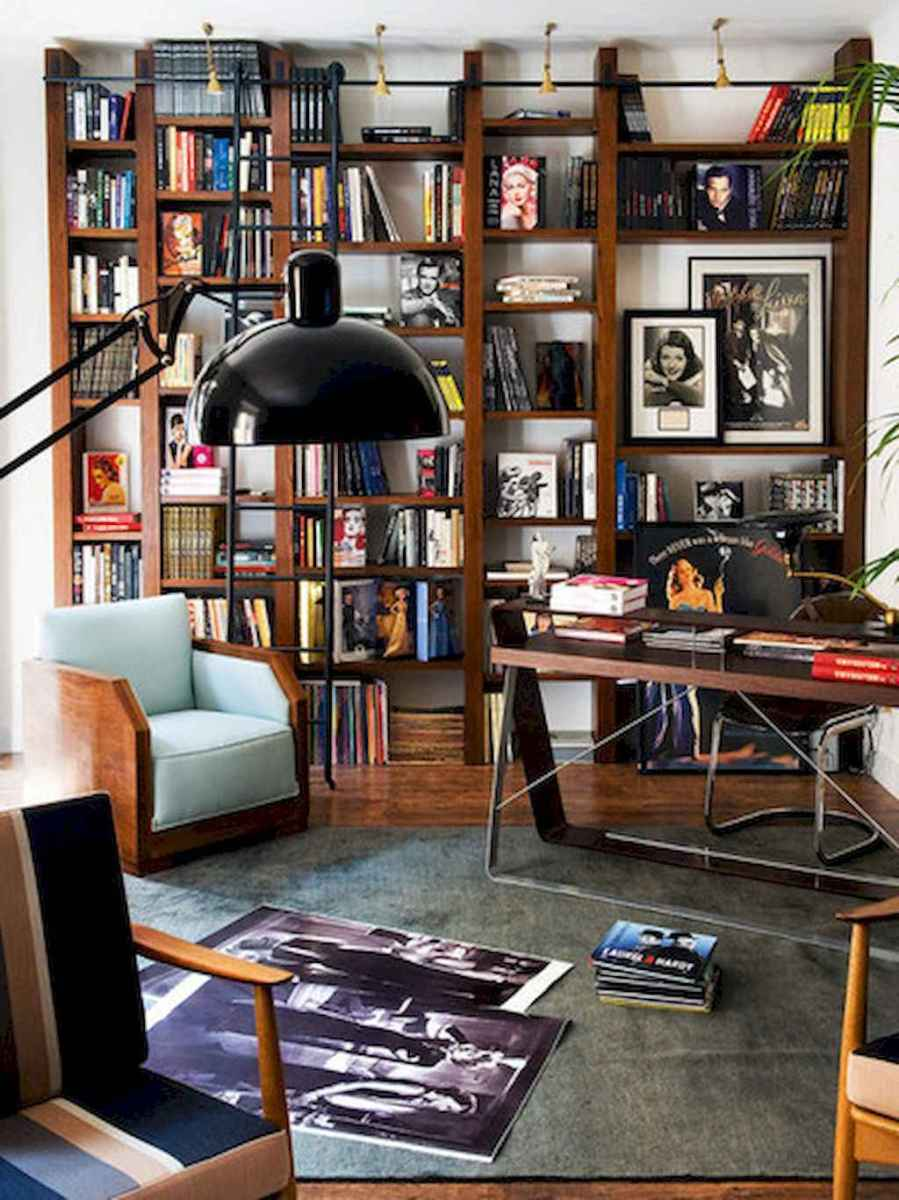60 amazing eclectic design ideas for your library room (55)