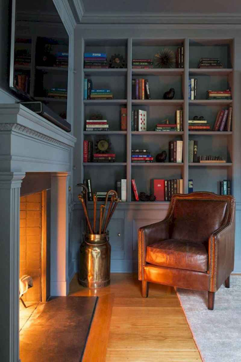 60 amazing eclectic design ideas for your library room (58)