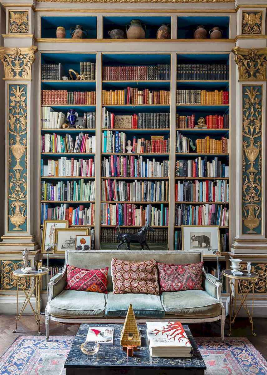 60 amazing eclectic design ideas for your library room (6)