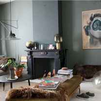 60 beautiful eclectic fireplace decor (26)
