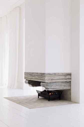 60 beautiful eclectic fireplace decor (39)