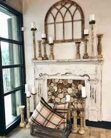 60 beautiful eclectic fireplace decor (6)