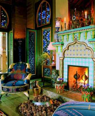 60 beautiful eclectic fireplace decor (8)