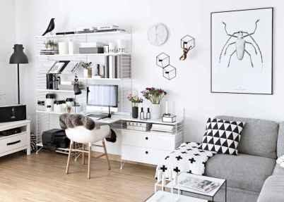60+ beautiful and subtle home office scandinavian design ideas (55)