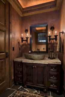 60+ pretty powder rooms with rustic design (46)