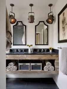 60+ pretty powder rooms with rustic design (58)