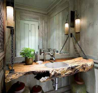 60+ pretty powder rooms with rustic design (64)