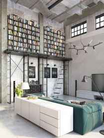 Beautiful home library design ideas (36)
