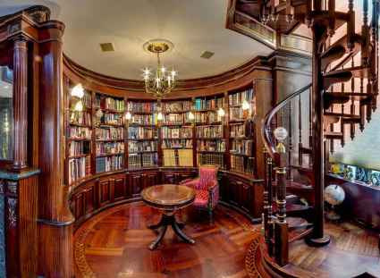 Beautiful home library design ideas (38)