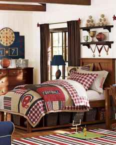 Cool sport bedroom ideas for boys (34)