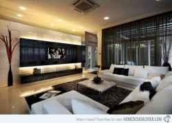 Inspired tv wall living room ideas (27)