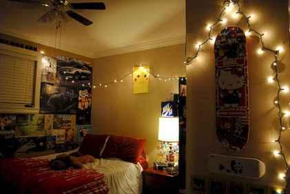 30+ diy apartment decorating christmas lights (25)