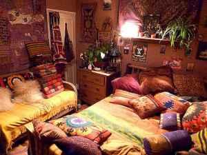40 boho chic first apartment decor ideas (21)