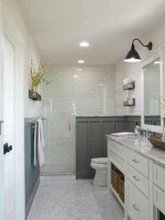 50 Rustic Farmhouse Master Bathroom Remodel Ideas 16