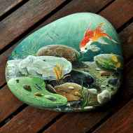 70 diy painted rock for first apartment ideas (49)