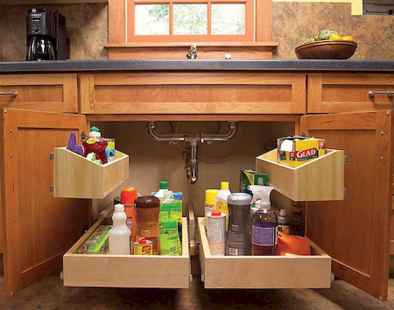 150 gorgeous farmhouse kitchen cabinets makeover ideas (89)
