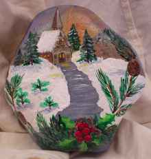 54 easy diy christmas painted rock ideas (2)