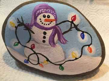 54 easy diy christmas painted rock ideas (53)