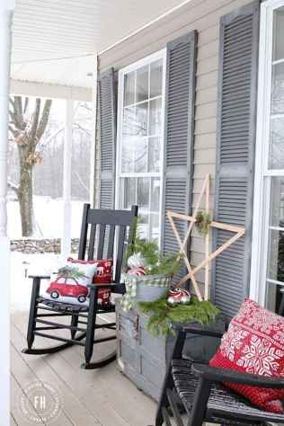 55 awesome christmas front porches decor ideas (33)