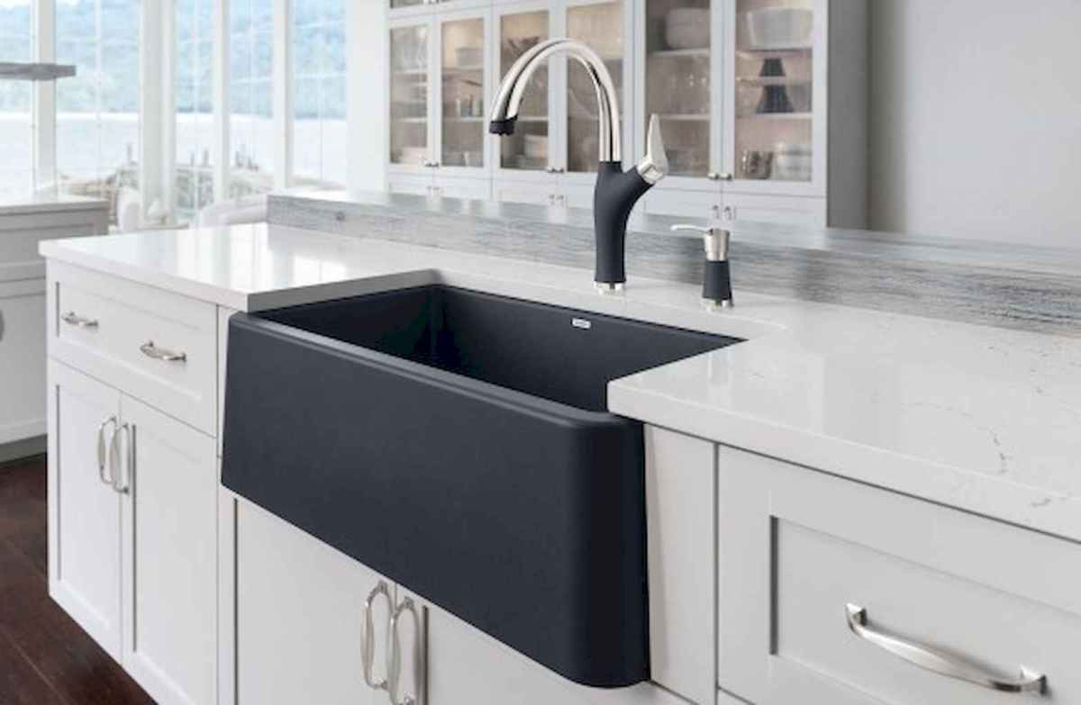 75 stunning farmhouse kitchen sink ideas decor (45)