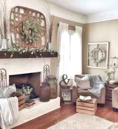 80 incridible rustic farmhouse fireplace ideas makeover (10)