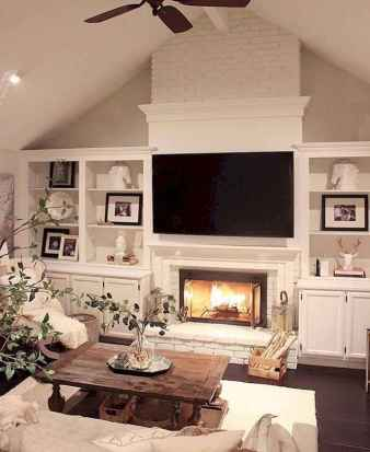 80 incridible rustic farmhouse fireplace ideas makeover (19)