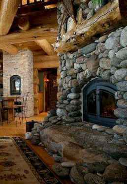 80 incridible rustic farmhouse fireplace ideas makeover (23)