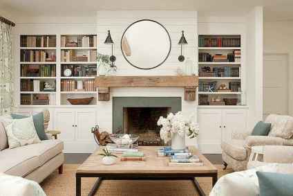 80 incridible rustic farmhouse fireplace ideas makeover (3)