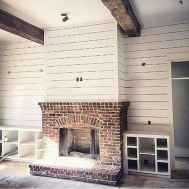 80 incridible rustic farmhouse fireplace ideas makeover (38)