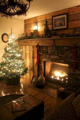 80 incridible rustic farmhouse fireplace ideas makeover (48)