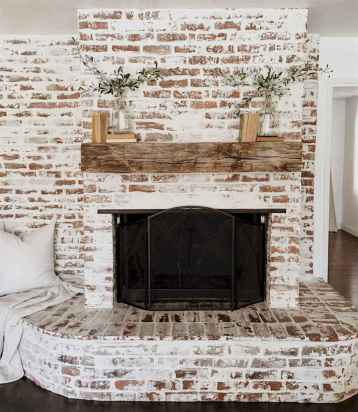 80 incridible rustic farmhouse fireplace ideas makeover (49)