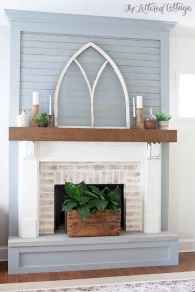 80 incridible rustic farmhouse fireplace ideas makeover (50)