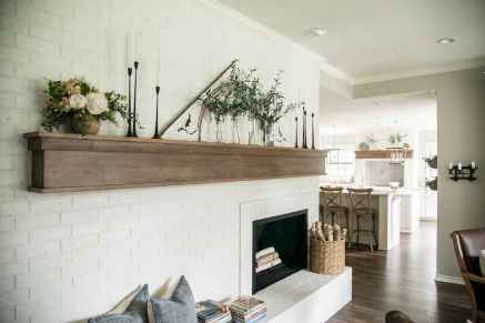 80 incridible rustic farmhouse fireplace ideas makeover (51)