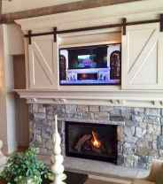 80 incridible rustic farmhouse fireplace ideas makeover (57)