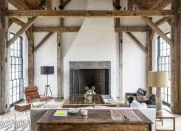 80 incridible rustic farmhouse fireplace ideas makeover (73)